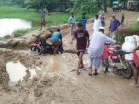দুর্গাপুর-কলমাকান্দা সড়কের বেহাল দশা